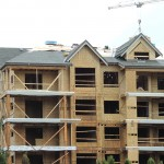 New Roof Construction at Yorkson Creek Condos, Langley BC: Close-Up