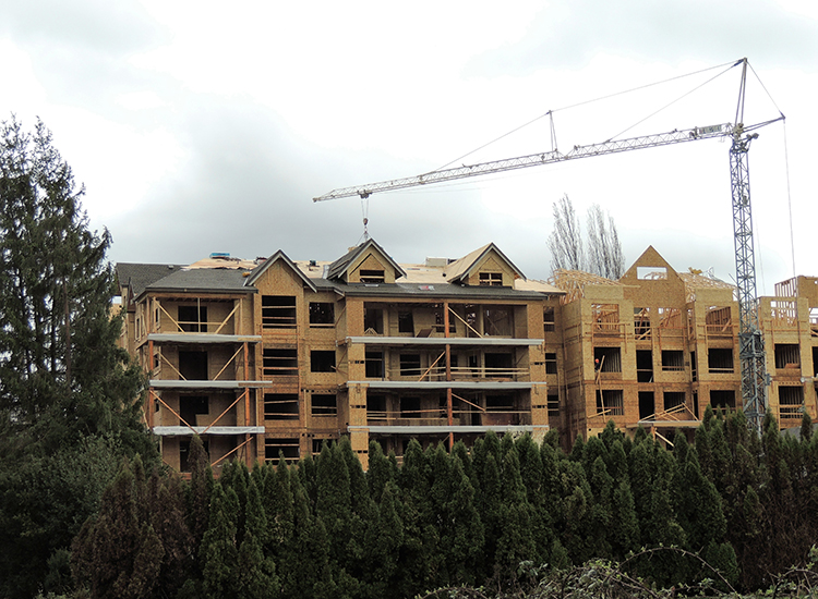 New Construction Roofing at Yorkson Creek Condos, Langley BC