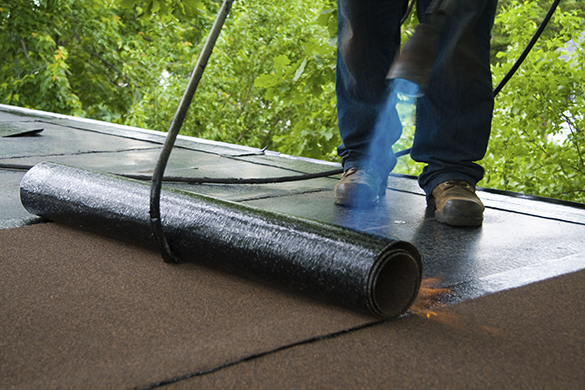 Torch on roofing and hot mopping Vancouver, Langley, Surrey, North Vancouver, Maple Ridge, Pitt Meadows, Coquitlam and Burnaby