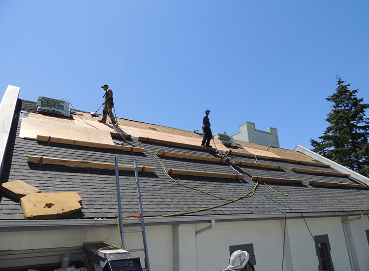 Surlang Roofers on Holy Trinity Church in White Rock, BC