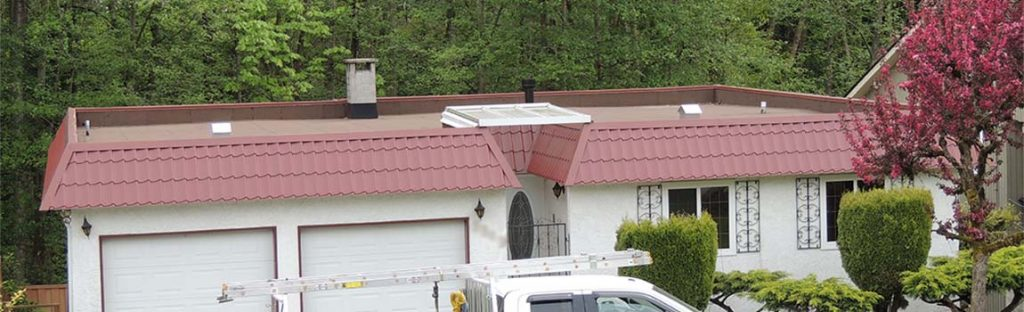 SBS Flat Roof with Westfor Deck Tile Installed on parapet at Burnaby