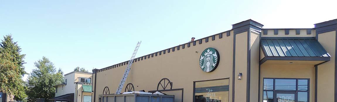 Starbucks New Flat Roof Installation