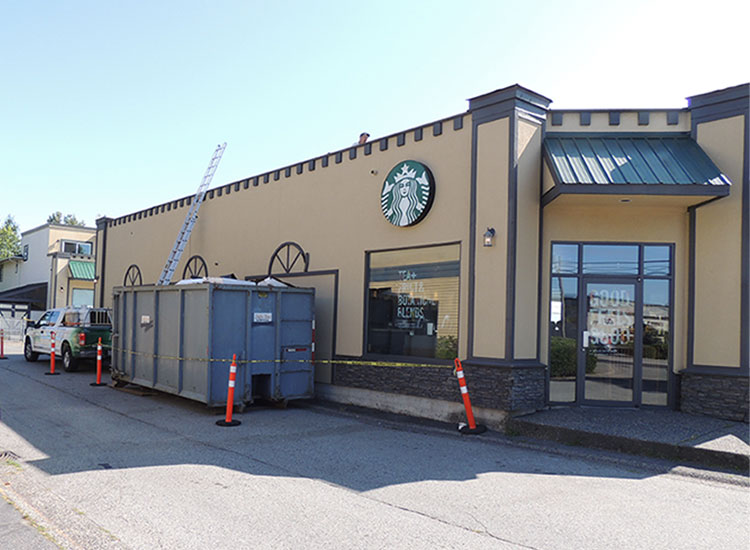 Starbucks New Flat Roof Installation