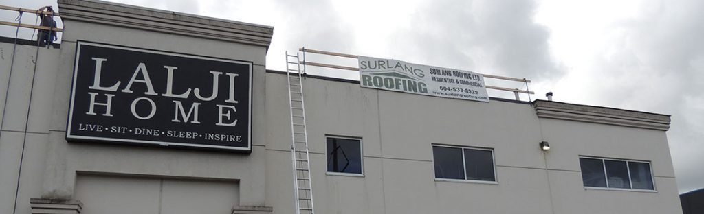 Coquitlam Commercial Re-Roofing United Furniture Warehouse
