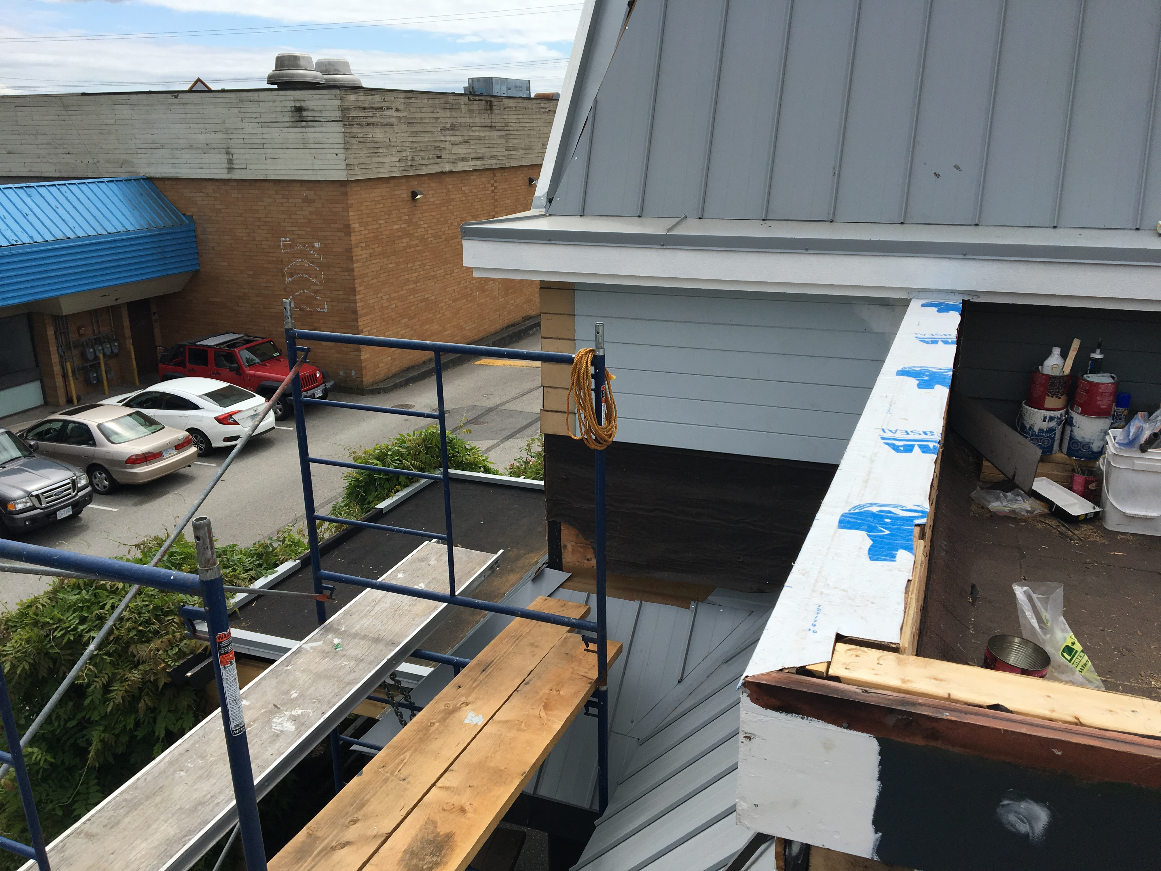 Roof Repair at parapet wall
