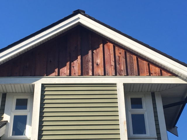 Cedar Siding Roof Repair, Cloverdale.