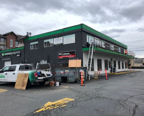 SBS membrane commercial roof installation on NY'S Indian Bistro