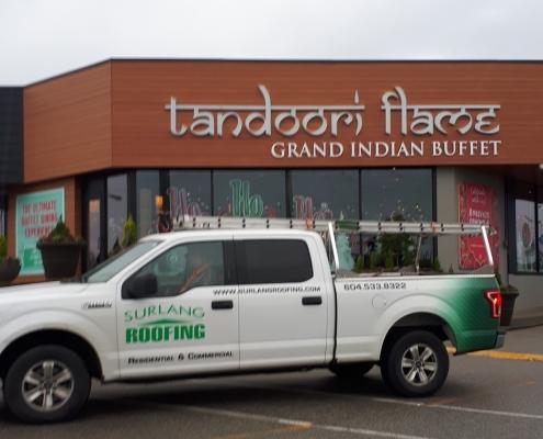 The Tandoori Flame restaurant new roof