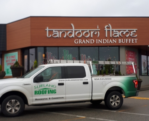 The Tandoori Flame Restaurant Roof Installation