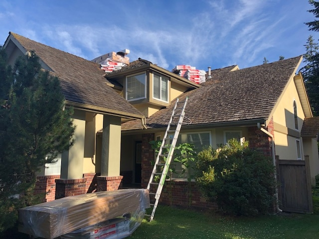 Cedar roof replacement South Surrey