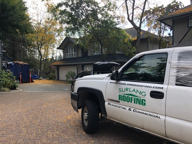 Reroofing project in Port Moody